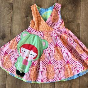 Girls dress reversible